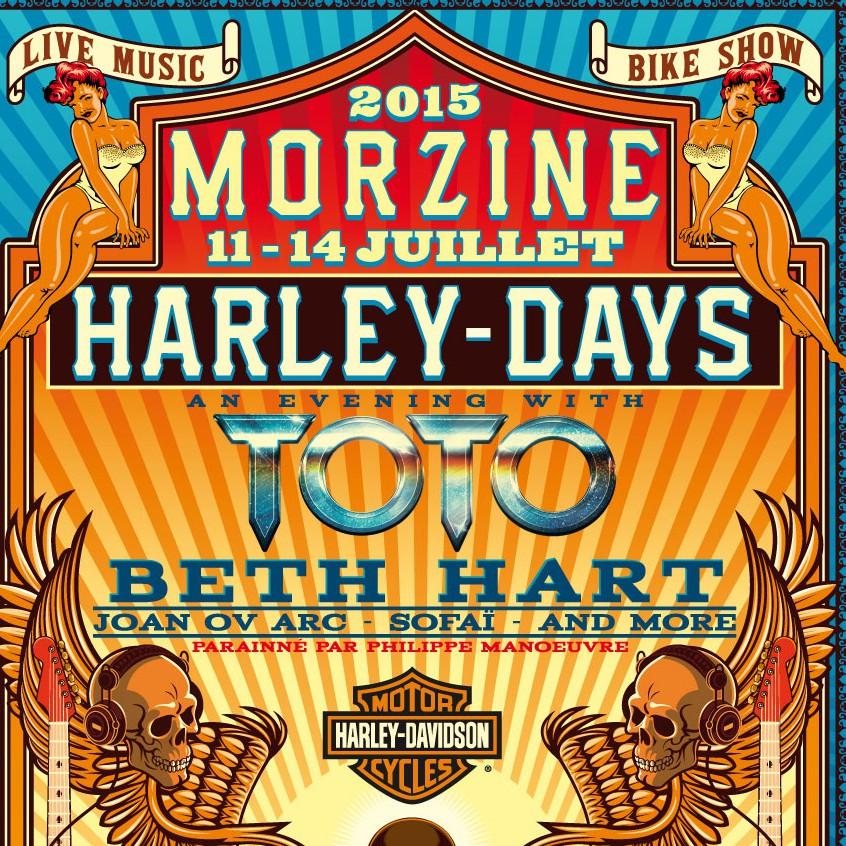 Affiche Harley Days Morzine 2015