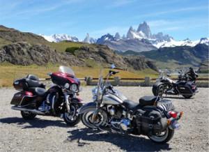 Road trip Harley en Patagonie en passant devant le Fitz Roy