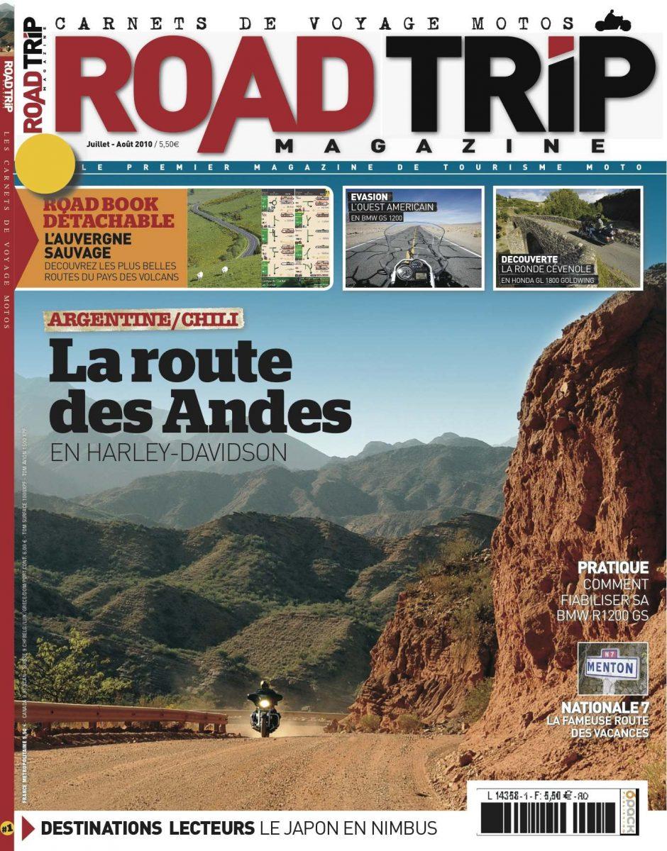 La couverture du Road Trip Magazine N°1 consacrée à La Route des Andes