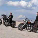 Salinas Grandes lors d'un voyage moto Harley en Argentine
