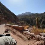 La Cuesta de Miranda sur un voyage moto Harley en Argentine