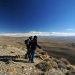Paysages immenses en Argentine sur un voyage moto Harley en Patagonie