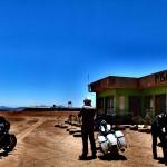 Arrêt dans une posada sur un voyage moto Harley en Argentine et Chili
