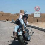 A Tinzouline au Maroc lors d'un voyage moto Harley au Maroc