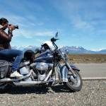 Scène de Patagonie sur un voyage moto Harley