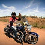 Dans la Pampa sur un voyage moto Harley en Argentine