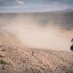 Sur la route en Patagonie sur un voyage moto Harley en Argentine