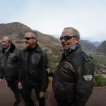 Entre amis sur un voyage moto Harley