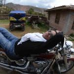 Pause sur un voyage moto Harley au Pérou