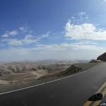 Descente vers Nazca au Pérou lors d'un voyage moto Harley