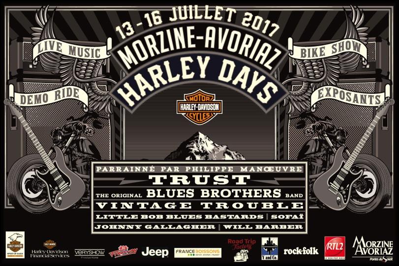 Affiche Morzine Harley Days 2017