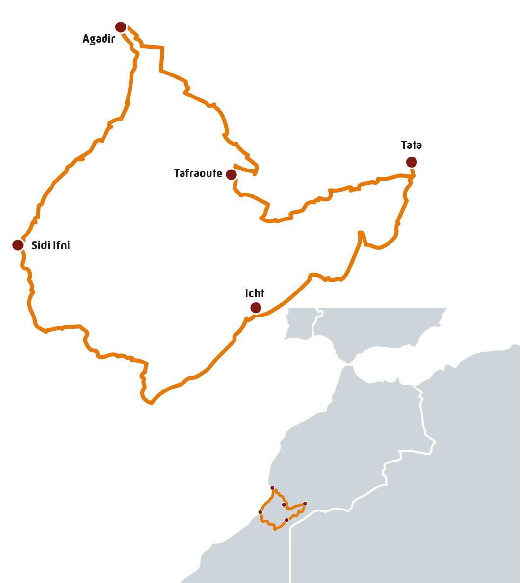 Itinéraire Les Couleurs du Sud au Maroc